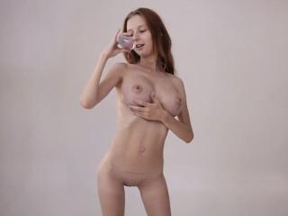 Helga Gray|Goldie Baby displays her skinny body and huge tits